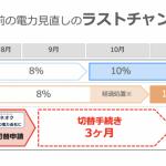 増税前「電気見直しキャンペーン」開始のお知らせ!